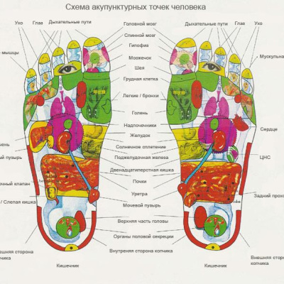 аккупунктура ног